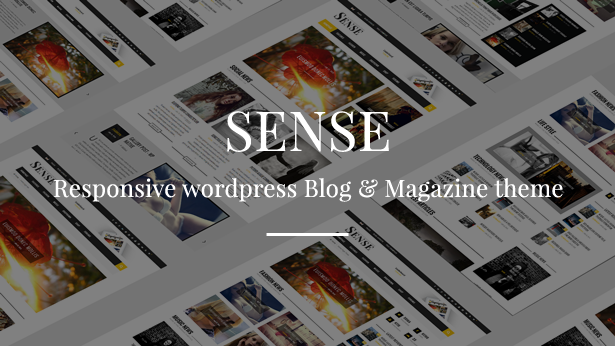 Sense - Blog Magazine & News Theme