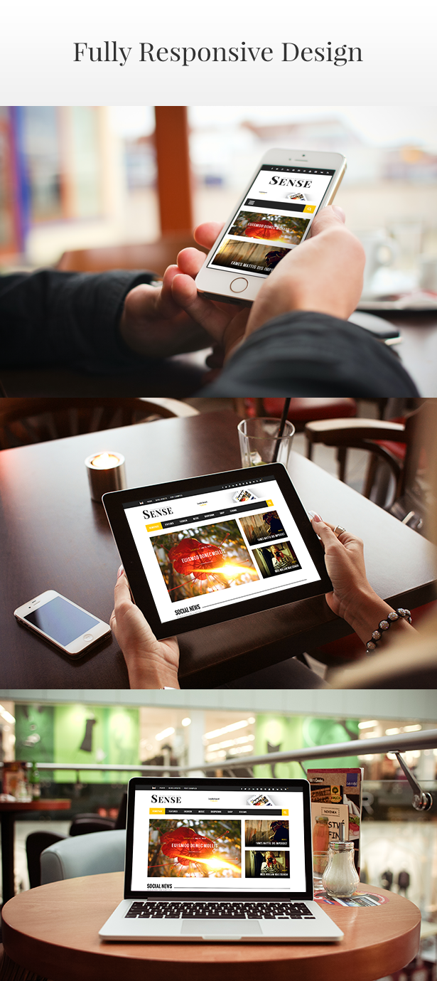 Sense - Responsive Blog Magazine and News Theme - 4